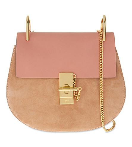 CHLOE Drew small saddle cross-body bag (Misty rose