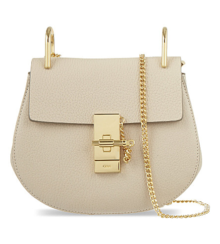 CHLOE Drew mini leather cross-body bag (Abstract+white