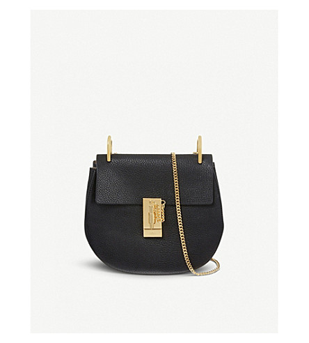 CHLOE Drew mini leather cross-body bag (Black