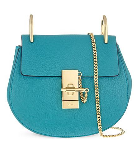 CHLOE Drew mini leather cross-body bag (Washed blue