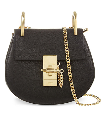 CHLOE Drew nano saddle cross-body bag (Black