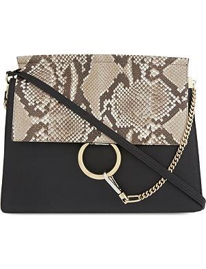CHLOE Faye medium python-leather shoulder bag