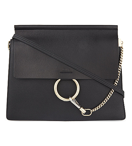 CHLOE Faye leather satchel (Black