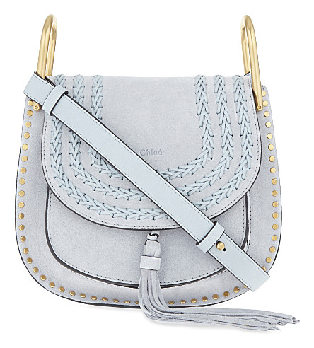 CHLOE Hudson small suede cross-body bag (Fresh+blue