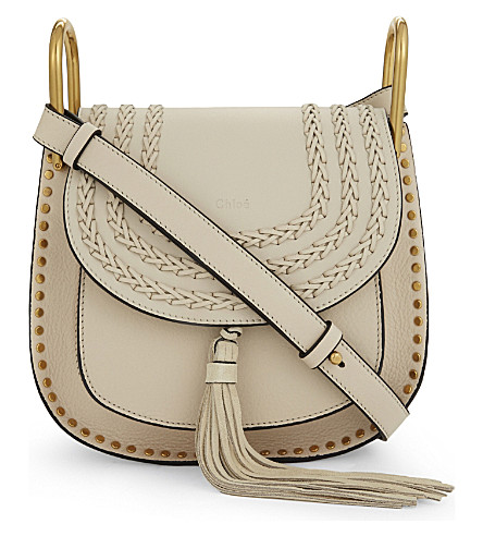 CHLOE Hudson small leather cross-body bag (Abstract+white