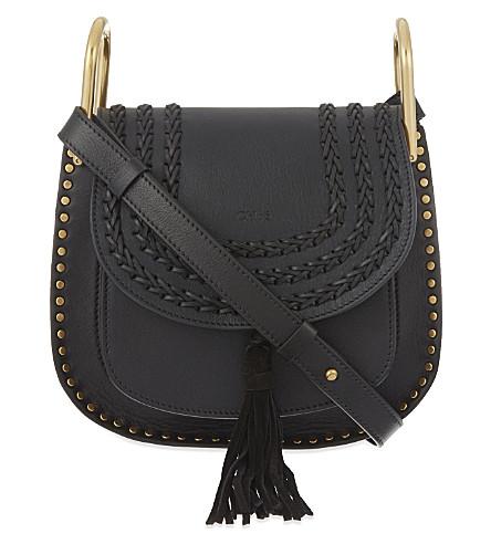 CHLOE Hudson small leather satchel (Black