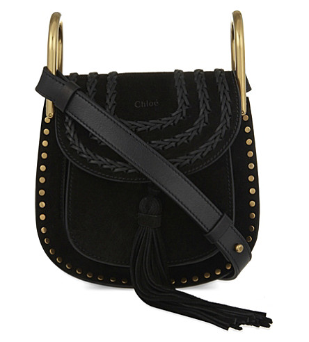 CHLOE Hudson mini suede cross-body bag (Black