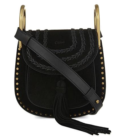 CHLOE Hudson mini suede cross-body bag (Black