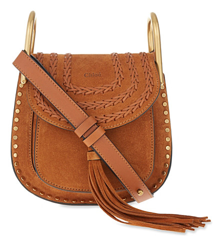 CHLOE Hudson mini suede cross-body bag (Caramel