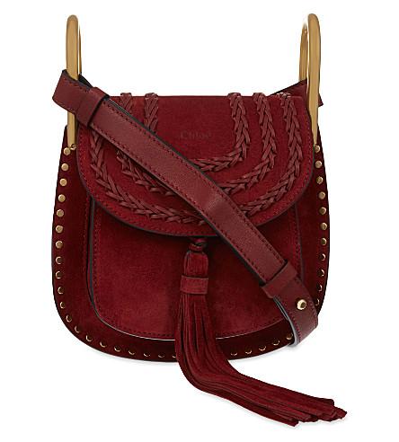 CHLOE Hudson mini suede cross-body bag (Sienna+red