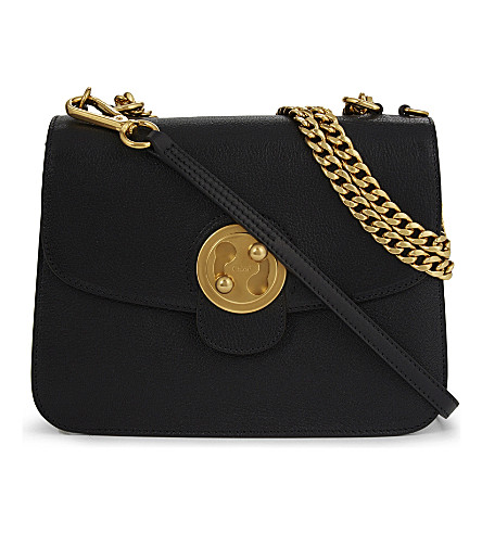 CHLOE Mily medium leather shoulder bag (Black