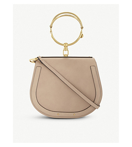 CHLOE Nile rounded leather cross-body satchel (Biscotti