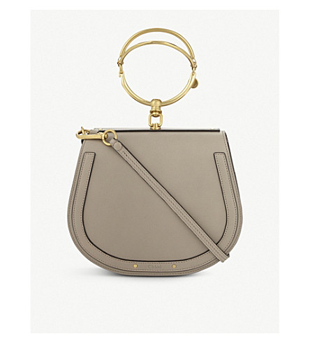 CHLOE Nile rounded leather cross-body satchel (Motty grey