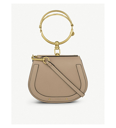 CHLOE Nile small leather cross-body bag (Biscotti+beige