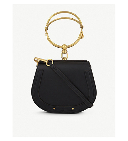 CHLOE Nile small leather cross-body bag (Black