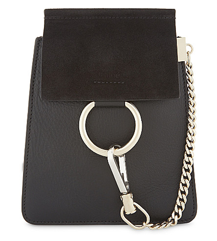 CHLOE Faye Bracelet leather shoulder bag (Black