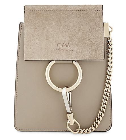 CHLOE Faye Bracelet leather shoulder bag (Motty grey