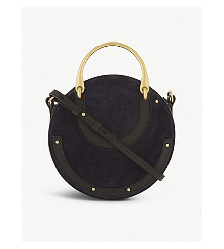 CHLOE Pixie circle shoulder bag (Full+blue+black