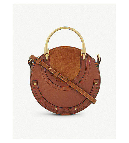 CHLOE Pixie circle shoulder bag (Saffron+red+tan