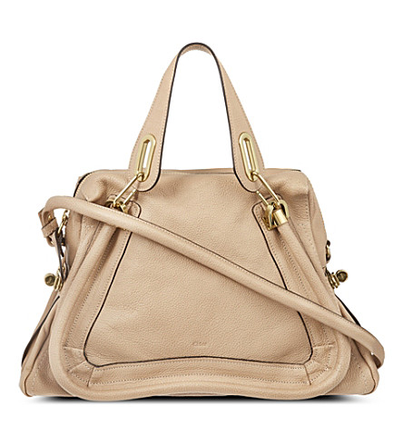 CHLOE Paraty medium leather shoulder bag (Dove