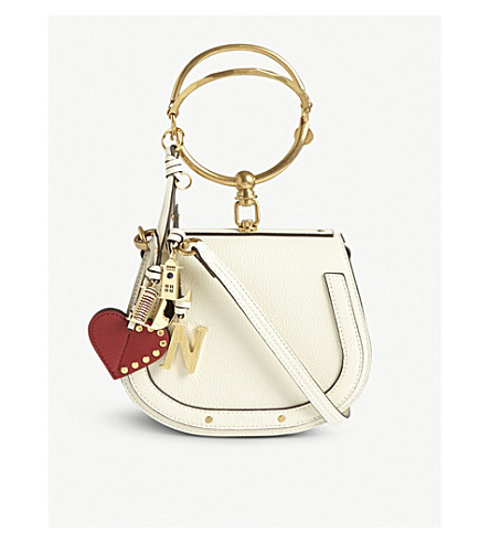 CHLOE Nile small leather cross-body bag (Off+white