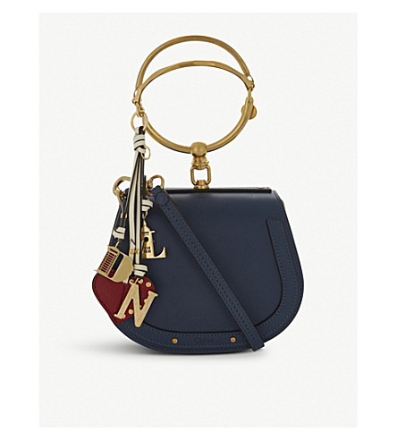 CHLOE Nile leather cross-body bag (Denim+blue