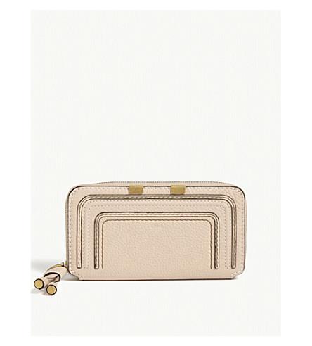CHLOE Marcie leather zip-around wallet (Blush+nude