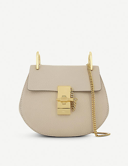 CHLOE Mini Drew Pebbled Leather Shoulder Bag