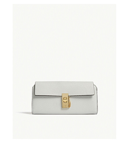 CHLOE Drew leather wallet (Airy+grey