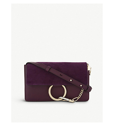 CHLOE Faye small leather shoulder bag (Intense+violine+purple