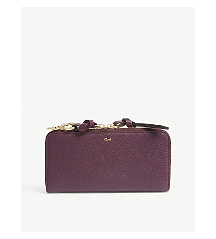 CHLOE Alphabet zip-around leather wallet (Intense+violine+purple