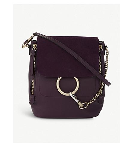 CHLOE 王菲皮革和麂皮绒背包 (强烈 + violine + 紫色