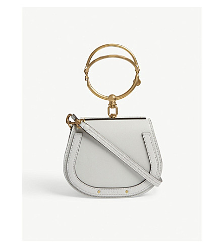 CHLOE Nile small leather cross-body bag (Airy+grey