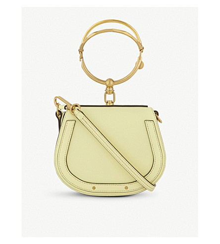 CHLOE Nile small leather saddle bag (Lemonade