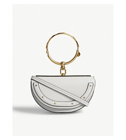 CHLOE Nile leather shoulder bag (Airy+grey