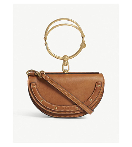 CHLOE Nile extra-small leather shoulder bag (Caramel