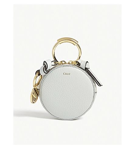 CHLOE Alphabet grained leather coin purse (Airy+grey