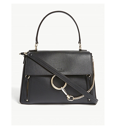 CHLOE Faye Day large leather shoulder bag (Black