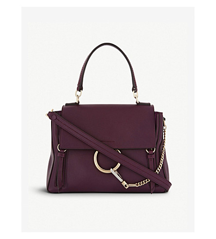 CHLOE Faye Day leather and suede bag (Intense+violine+purple