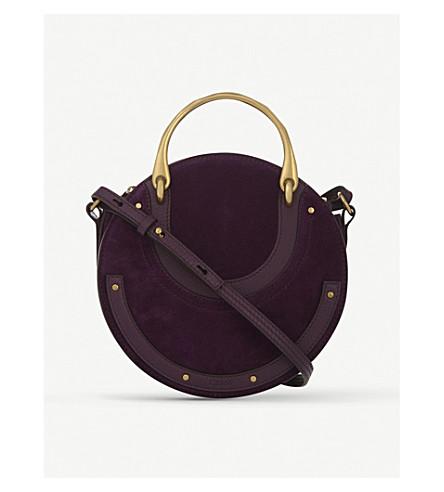 CHLOE Small Pixie suede shoulder bag (Intense+violine+purple