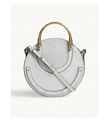 CHLOE Pixie leather cross-body bag (Pastel+grey