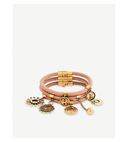 CHLOE Coins leather bracelet (Nougat