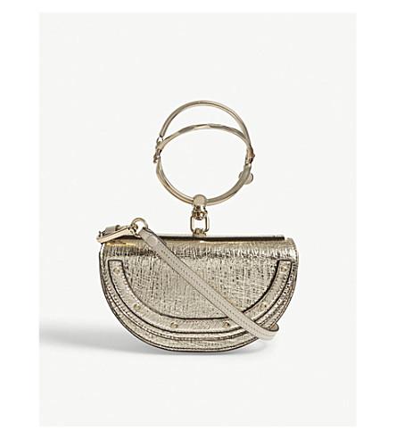 CHLOE Nile metallic leather shoulder bag (Gold