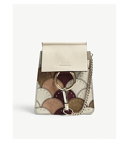 CHLOE Faye Bracelet cross-body bag (Abstract+white