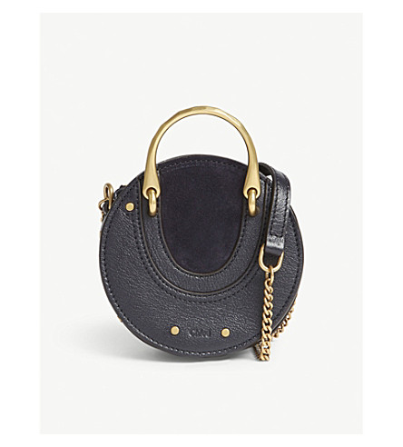 CHLOE Mini Pixie suede leather shoulder bag (Full+blue