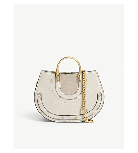 CHLOE Pixie suede and leather bum bag (Pastel+grey