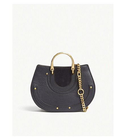 CHLOE Pixie suede and leather bum bag (Full+blue