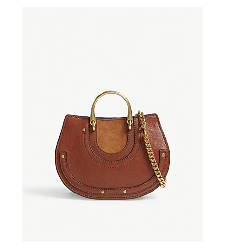 CHLOE Pixie leather bum bag (Saffron+red