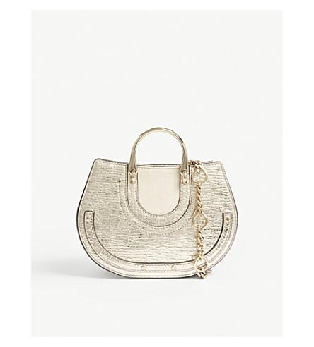 CHLOE Pixie metallic leather bum bag (Gold