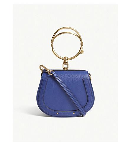 CHLOE Nile small leather cross-body bag (Majesty+blue